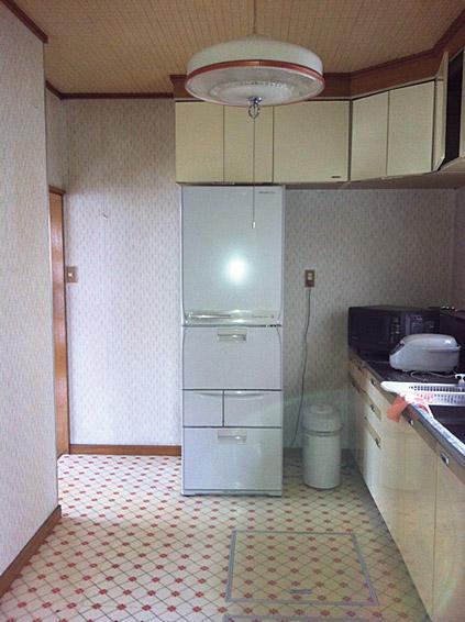 工事前のキッチンスペース